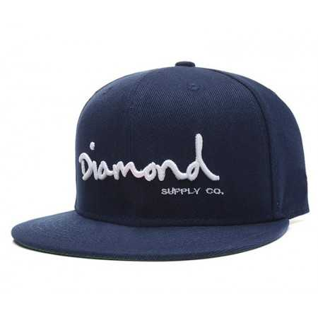 Gorra Plana Diamond Azul diamond blanco