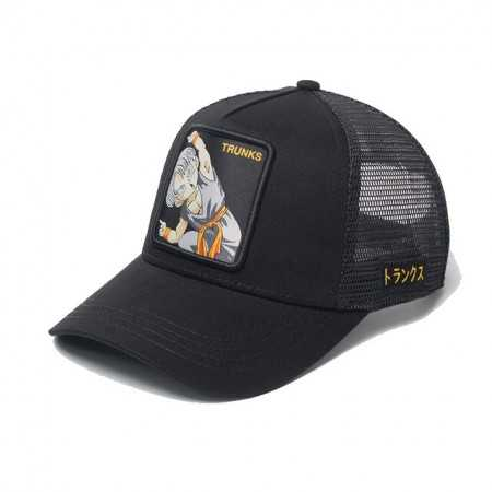 Gorra visera curva trucker Dragon Ball Trunks negra