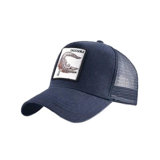 Gorra visera curva trucker Animal Cocodrilo azul